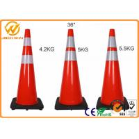 Buy cheap Highway Security Traffic Safety Cones , Reflective Red 36 Traffic Cones Rental from wholesalers