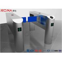 Buy cheap Single Pole Half Height Turnstile , Pedestrian Turnstile Gate With Card Reader product