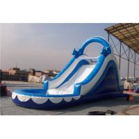 Buy cheap Huge Dolphin Inflatable Water Slide Combo , Backyard Water Slides For Adults from wholesalers