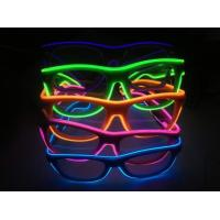 Buy cheap Shinging El Wire Glasses With Diffraction Effect Lens For Watching Fireworks from wholesalers
