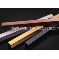 U Shaped Stainless Steel Decorative Trim Listello Trim Profiles For Wall