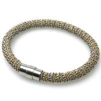Buy cheap High Polished Eco-friendly Rose Popcorn Bracelet , Stainless Steel Magnetic Clasp from wholesalers