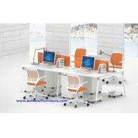 Buy cheap Modern Modular Office Workstation Table 4 Person Dividers Office Cubicle white color from wholesalers