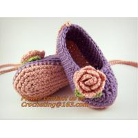 Buy cheap Crochet Baby, Booties, Socks Knitted, Newborn Loafers Shoes Plain Infant Slippers Footwea from wholesalers