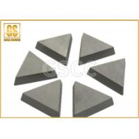 Buy cheap Hardness Tungsten Carbide Brazed Tips , Carbide Cutting Tips YG3 YG6X Grade from wholesalers