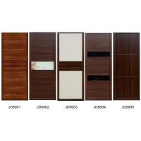 Buy cheap Sliding Wardrobe Closet doors in melamine board  and Leather with Fabric covered MDF doors also Solid wood Cabinets product