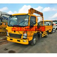 Buy cheap 4x2 HOWO Cargo Transport Truck Chassis Truck Mounted Crane 120 - 140hp Power from wholesalers