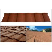 Buy cheap Wave / Double Roman Roof Tiles / Aluminum - Zinc Coating Stone Chip Coated Steel Roofing Tile from wholesalers