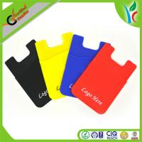 Buy cheap Light Weight Silicone Phone Cases , 3M Sticker Silicone Smart Cell Phone Wallet Case from wholesalers