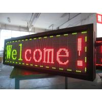 Buy cheap Traffice Yellow and Red Color Scrolling LED Sign Electronic Moving Message from wholesalers