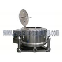 Buy cheap Manual Stainless Steel Pharmacy, Food PPTD Flat - Plate Top Discharge Basket Centrifuge from wholesalers
