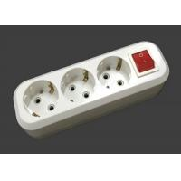 Buy cheap 3500W 220V - 250V Electric Extension Cord 3 Outlets ABS Material With Switch product
