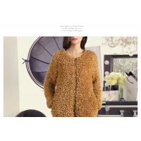 Round neck zipper design long sleeves ladies fashion & elegant fur coat