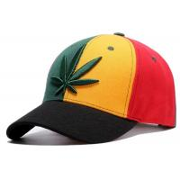 Buy cheap Hemp Leaves Snapback Adjustable Hats Unisex Leisure Use 58cm For Adults from wholesalers
