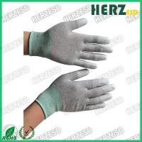 Buy cheap Electronic Workshop ESD Safe Gloves , Anti Static Work Gloves PU Finger Tip Coating from wholesalers