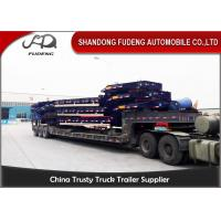 Buy cheap Heavy Duty 40-60 Ton Low Bed Semi Trailer Excavator Truck Trailer from wholesalers