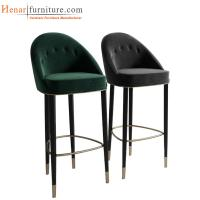 Buy cheap Brown Cherry Finish Modern Kitchen Bar Stools / Counter Height Swivel Bar Stools from wholesalers