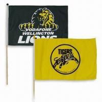 Buy cheap Advertising/National Hand Wave Flag Banner with Plastic or Wooden Flag Pole product