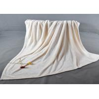 Buy cheap Plain dyed Soft fleece blankets with 2cm hemming edge for home bedding and sofa from wholesalers