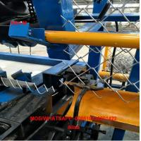 Buy cheap 4m width Full Automatic double wire feeding Chain Link Fence Making Machine from China from wholesalers