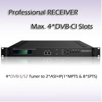 Buy cheap Four Channels DVB-S2 DVB&IPTV Professional Receiver Support CI Card from wholesalers