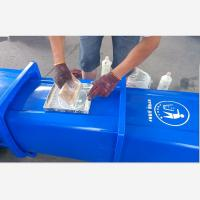 Buy cheap G120 The Public Place Recycling Waste Bin with lid and wheels print free logo from wholesalers