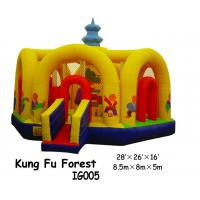 Buy cheap Waterproof Kung Fu Forest Inflatable Bouncing House WIth Net Arch Surrounding from wholesalers