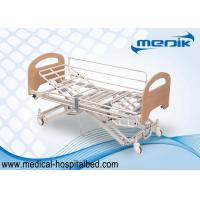 Buy cheap Enameled Steel Structure Nursing Home Beds With Collapsible Side Rails from wholesalers