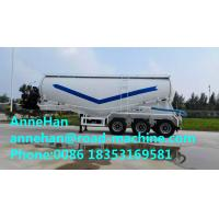 Buy cheap 40M3 Reinforced Steel Cement Semi Trailer Trucks For Dry Bulk Powder Material Transportation from wholesalers