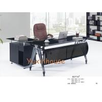 Buy cheap Tempered glass office desk commercial office furniture executive glass office desk from wholesalers