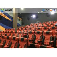 Buy cheap Large Mobile 4D Movie Theater Equipment  , Motion Chairs With Comfortable Headrest And Cup Saucer product