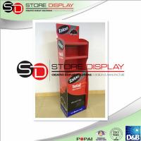 Top quality 3 Shelves Cardboard Retail Displays Reusable Environmental Protection for sale