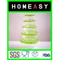 Buy cheap round heat resistant tempered glass food storage  clear glass bowls from wholesalers