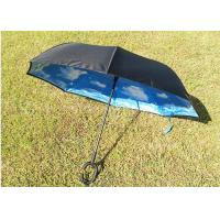 Buy cheap Innovative Two Layer Reverse Folding Umbrella That Closes Inside Out Metal Tips from wholesalers