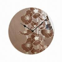 China Home Decorarion Clock, Made of Glass on sale
