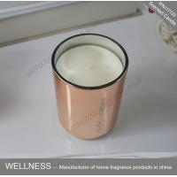 Buy cheap Room Fragrance Pure Clean Soy Candles ITS Approved With Rose Golden Glass Jar from wholesalers
