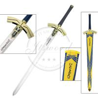 Buy cheap Yellow Fate Stay Night Saber Lily Avalon Excalibur Sword Blade Edge Without Sharp from wholesalers