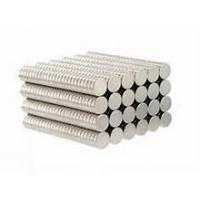Buy cheap Free Sample N35 D8x3mm Disc Strong Magnetic Force NdFeB Magnet Zinc Coating from wholesalers