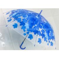 Buy cheap Beautiful Flower Full Print  Clear Colored Umbrella , Bubble Rain Umbrella Metal Frame from wholesalers