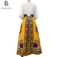 Buy cheap Cotton Printed A Line Style African Print Skirts Designs Batik Fabric Fashion from wholesalers