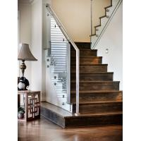 Buy cheap Carbon steel straight staircase with wooden tread modern design product