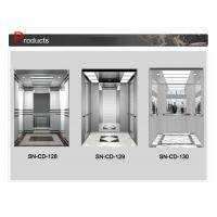 Buy cheap Stainless Steel Frame Elevator Cabin Decoration With Mirror Etching Middle Panel from wholesalers