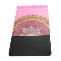 Buy cheap High quality washable 72''x 26'' microfiber suede surface rubber bottom yoga mat product