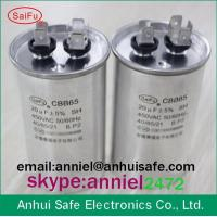 Buy cheap HQ polypropylene film oil type round ac motor run capacitor CBB65 for air conditioner factory manufactuer made in china from wholesalers