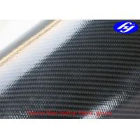 Buy cheap Black Kevlar Polyurethane Upholstery Fabric Coated With Glossy TPU Dual Sides from wholesalers