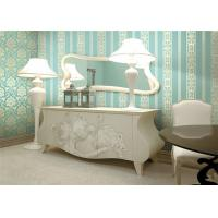 Buy cheap Removable Light Green Modern Damask Wallpaper Country Style With Non Woven Materials product