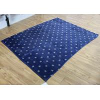 Buy cheap 280gsm Adults Flannel Fleece Blanket Navy Blue Soft Star Pattern from wholesalers