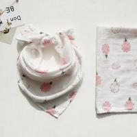 Buy cheap 6 Layers Gauze Muslin Baby Bibs Fruit Printing Mouth Towel Bandana Baby Bibs from wholesalers