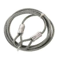 China Thimble Hot-Dip Galvanized Steel Braided Wire Rope Slings 1x19 With Both End on sale