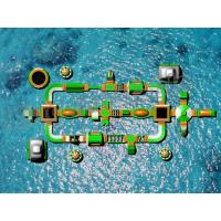 Buy cheap Customized Outdoor Giant Inflatable Floating Water Park For Entertain , 55.4*28 M product